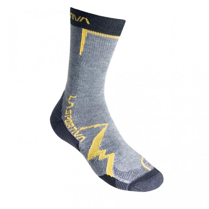 La Sportiva Mountain Socks - calze sportive estive - grigio-giallo