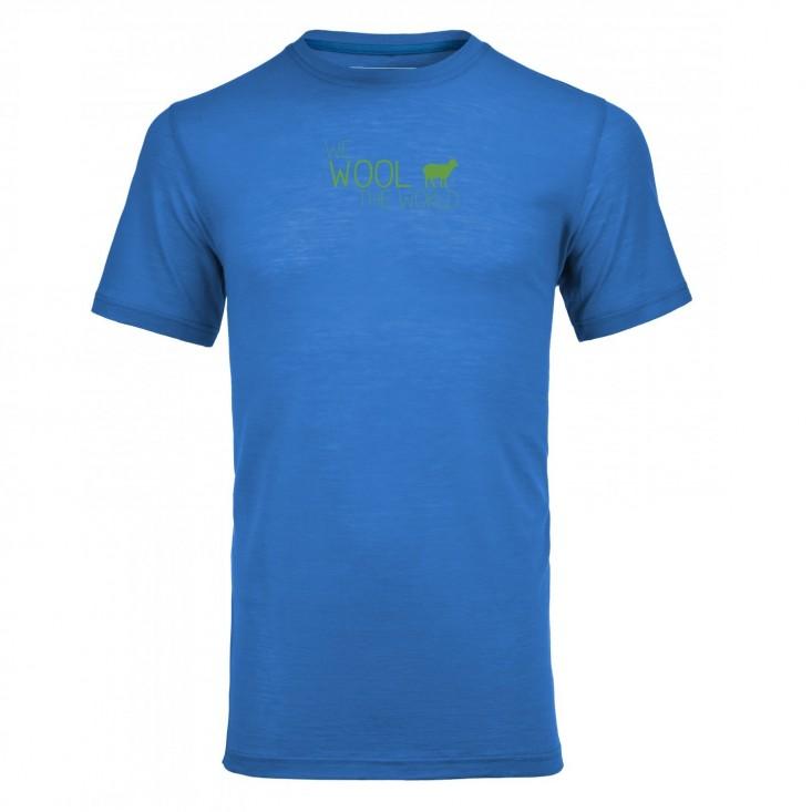 T-Shirt Uomo Montagna Ortovox Merino Cool World Blue Ocean su Mancini Store