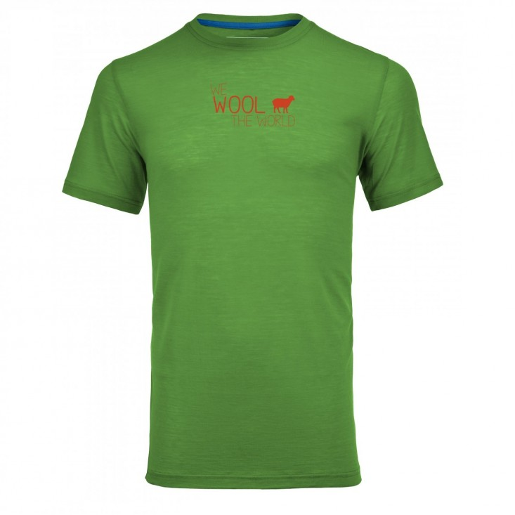 T-Shirt Uomo Montagna Ortovox Merino Cool World Absolut Green su Mancini Store