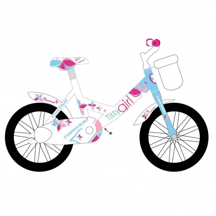Torpado Titty T691 Jr 12 - bici bambino bianca/blue/pink | Mancini Store