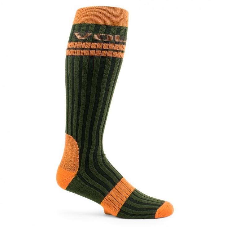 Calze Snowboard Sci Volcom The Crew Socks verde-arancio su Mancini Store