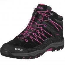 Cmp Kids Rigel Mid - scarpe trekking bambina impermeabili - nere fuxia