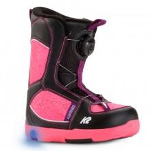 K2 Lil Kat - scarponi snowboard bambina - neri/fuxia | Mancini Store