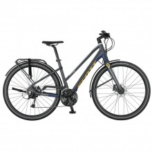 Scott Silence 30 Lady S - city bike donna -blu-gialla
