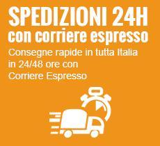 Consegne rapide 24/48 ore con corriere espresso