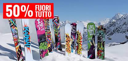 Snowboard shop: Vendita snowboard online a metà prezzo