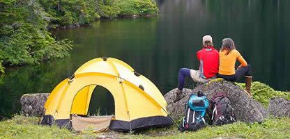 Visita il reparto campeggio