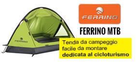 Tenda campeggio ferrino 3 posti dedicata al cicloturismo
